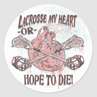 Lacrosse mein Herz-lockerer Gang Runde Aufkleber