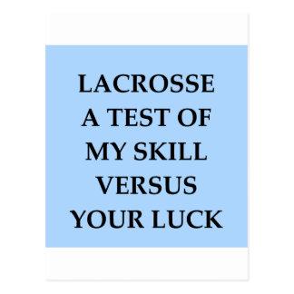 Lacrosse Postkarte