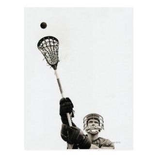 Lacrosse-Spieler 3 Postkarte