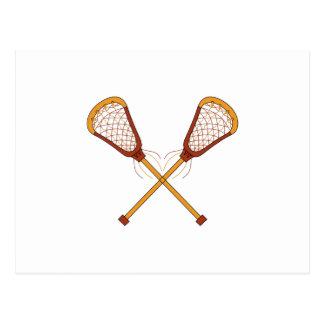 Lacrosse-Stöcke Postkarte