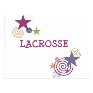 Lacrosse-Strudel Postkarte