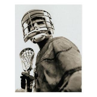 Lacrosse-Torhüter Postkarte