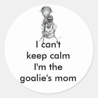 Lacrosse-Tormann-Mamma-Aufkleber Runder Aufkleber
