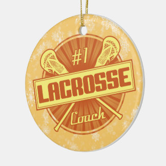 Lacrosse-Weihnachtsdekoration, lockerer Zug #1 Keramik Ornament