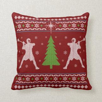 Lacrosse-Weihnachtskissen - Strickjackeart Kissen