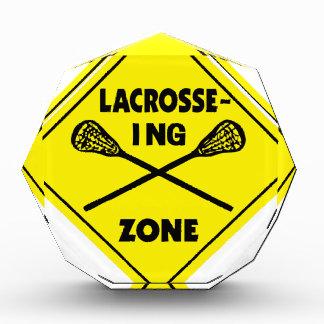 Lacrosse zone2 acryl auszeichnung