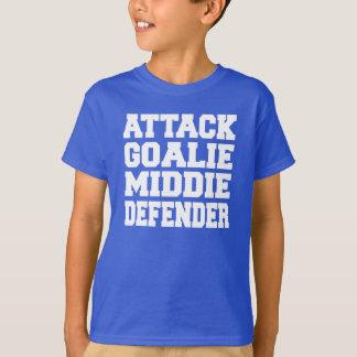 Lacrosset-stück des Jungen - greifen Sie Tormann T-Shirt