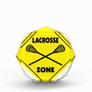 Lacrossezone Acryl Auszeichnung