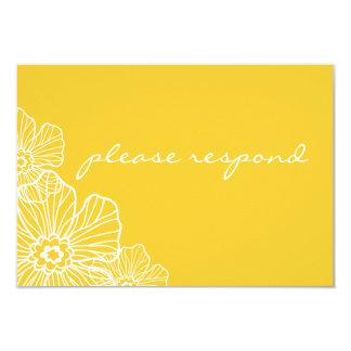 Lacy Blumen-Gelb UAWG Karte | 8,9 X 12,7 Cm Einladungskarte