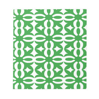 Lacy grüner viktorianischer Druck Notizblock