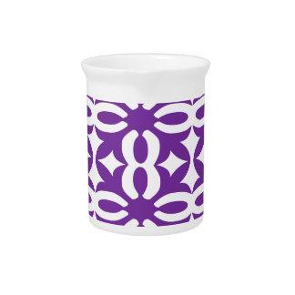 Lacy lila viktorianischer Druck Getränke Pitcher