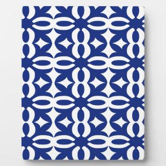 Lacy Marine-Blau-viktorianischer Druck Fotoplatte