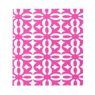 Lacy pinkfarbener viktorianischer Druck Notizblock