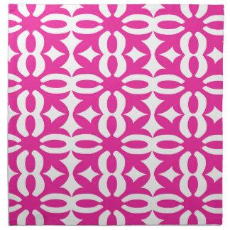 Lacy pinkfarbener viktorianischer Druck Serviette