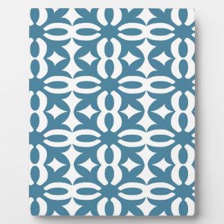Lacy Schiefer-blauer viktorianischer Druck Fotoplatte