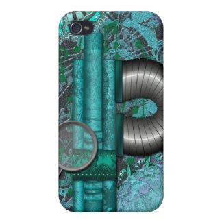 Lacy Steampunk Aqua-Speck-Kasten iPhone4 iPhone 4 Case