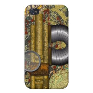 Lacy Steampunk kupferner MessingSpeck-Kasten iPhone 4/4S Hülle