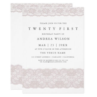 Laden 21. Party Geburtstag der eleganten rosa Karte