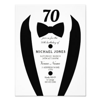 Laden 70. der Geburtstags-Party der Schwarz-weißen Karte