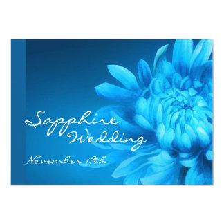 Laden blaues Hochzeits-Party des Saphirs 45. ein Karte