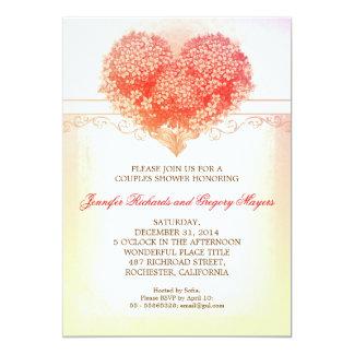 laden kreative Paardusche der Vintagen Herzblüte 12,7 X 17,8 Cm Einladungskarte