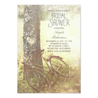 laden rustikales Land-Brautparty des Liebebaums 12,7 X 17,8 Cm Einladungskarte