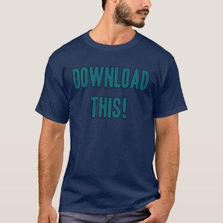 Laden Sie dieses T-Shirt für Computer-Büffelleder