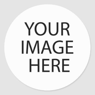 laden Sie Ihr eigenes Bild! Runder Aufkleber