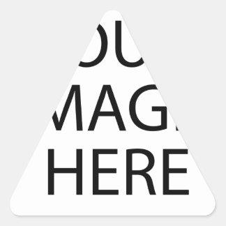 Laden Sie Ihr eigenes Foto Dreiecks-Aufkleber