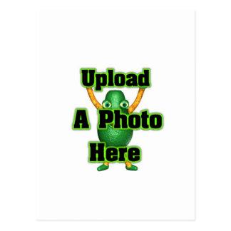 Laden Sie Ihr Foto zu den Schablonenpostkarten Postkarte