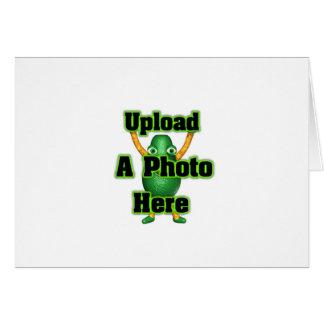 Laden Sie Ihr Foto zu den Schablonenprodukten Karte