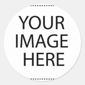 Laden Sie Ihre eigenen Bilder, um Prämie zu machen Runder Aufkleber