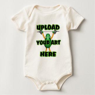 laden Sie Ihre Kunst zu den Vorlagen durch Baby Strampler