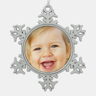 laden Sie Ihre Zinn-Schneeflockeverzierung des Schneeflocken Zinn-Ornament