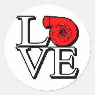 Laden Sie Liebe auf Runde Aufkleber