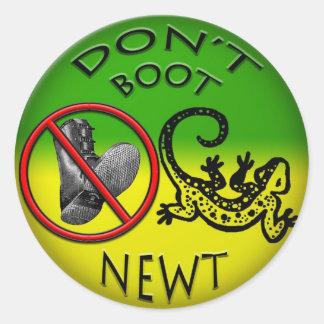 Laden Sie nicht Newt-Aufkleber auf Runder Aufkleber