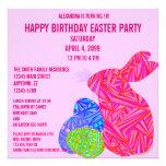 Laden Themed Geburtstags-Party rosa Häschen-Ostern Individuelle Einladungen