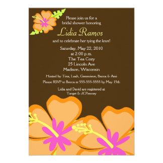 Laden tropisches Brautparty 12x18 der Personalisierte Einladungskarte