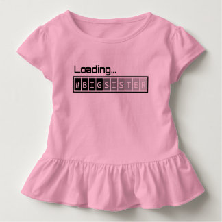 Ladende große Schwester - Rosa Kleinkind T-shirt