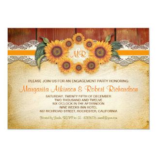 Lädt rustikales hölzernes Verlobungs-Party der 12,7 X 17,8 Cm Einladungskarte