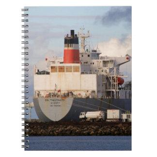 Ladungsschiff Spiral Notizblock