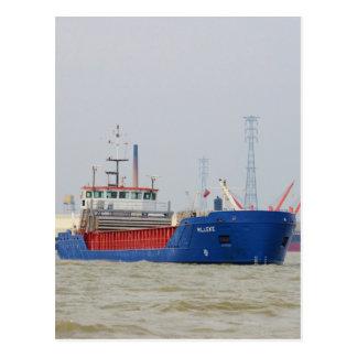 Ladungsschiff Willeke Postkarte