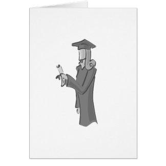 Lady Graduating Card