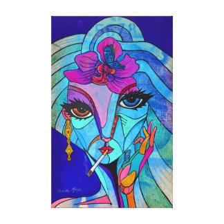 Lady of flower leinwanddruck