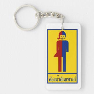Ladyboy-/Wildfang-Toilette ⚠ thailändisches Schlüsselanhänger
