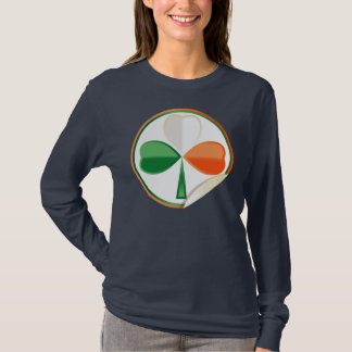 Ladys langes Hülsen-Shirt mit St Patrick tref T-Shirt