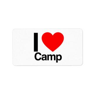 Lager der Liebe I Adressaufkleber