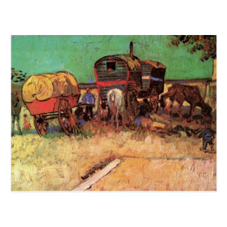 Lager der Sinti und Roma mit Wohnwagen durch Van Postkarte