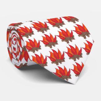 Lagerfeuer röstete krawatte