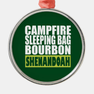 Lagerfeuer-Schlafsack Bourbon Shenandoah Silbernes Ornament